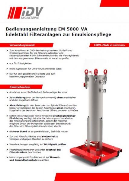 Bedienungsanleitung EM 5000-VA